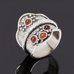 Кольцо гранат альмандин Индия (серебро 925 пр. оксидир.) размер 19