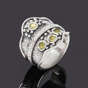 Кольцо хризолит США (серебро 925 пр. оксидир.) размер 19