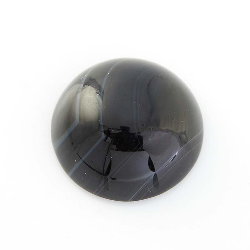 Кабошон агат черный Бразилия 10 мм