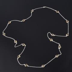 Бусы цитрин Бразилия (серебро 925 пр.) (цепочка) длинные огранка 90 см