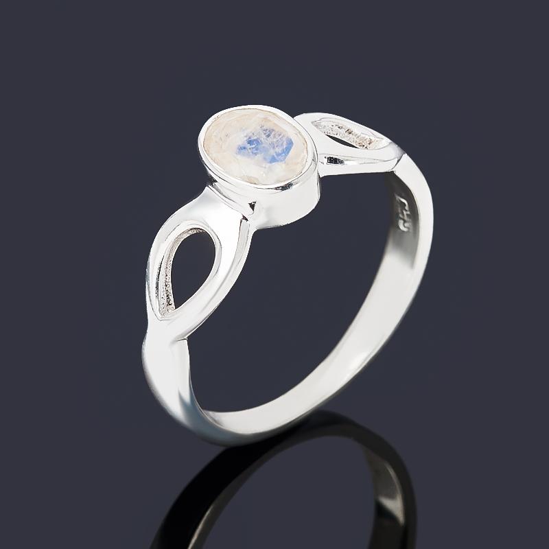 Кольцо лунный камень (адуляр) (серебро 925 пр.) огранка размер 18