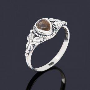Кольцо лабрадор Мадагаскар (серебро 925 пр. оксидир.) огранка размер 17