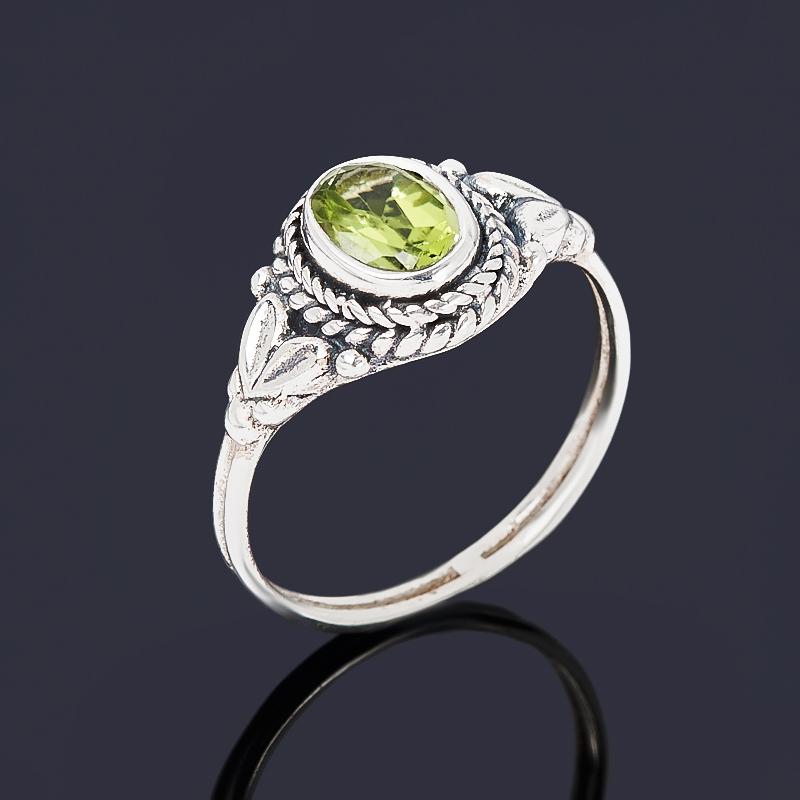 Кольцо хризолит (серебро 925 пр. оксидир.) огранка размер 17 кольцо содалит серебро 925 пр регулируемый размер 17 5