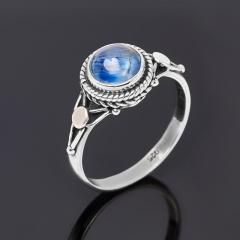 Кольцо кианит синий Бразилия (серебро 925 пр. оксидир.) размер 18