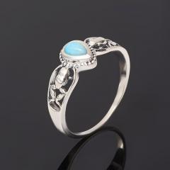 Кольцо ларимар Доминиканская Республика (серебро 925 пр. оксидир.) размер 18,5