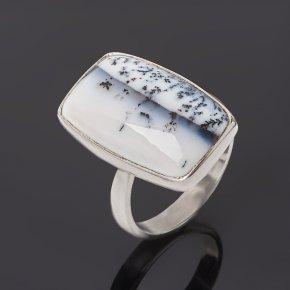 Кольцо агат пейзажный Индия (серебро 925 пр.) (регулируемый) размер 18