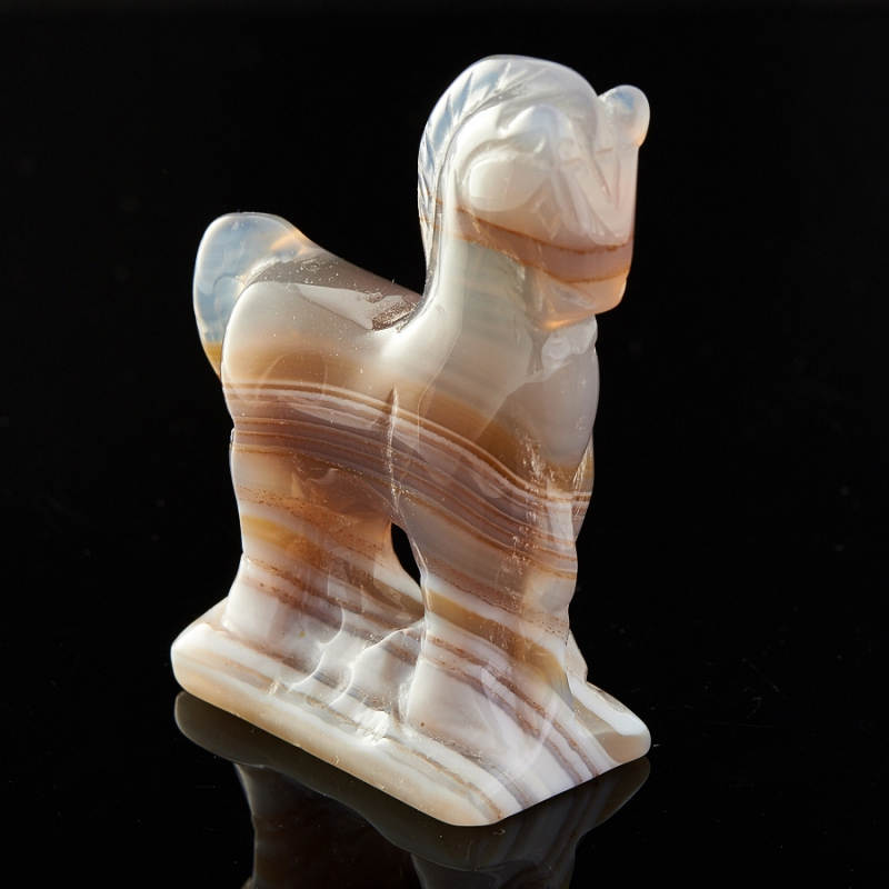 Лошадка агат серый 5 см стеклянная вставка ceramica classic мармара пальмира комплект серый 3шт компл 5 5х16 5 см