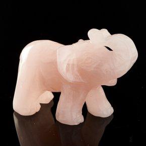 Слон розовый кварц Намибия 5 см