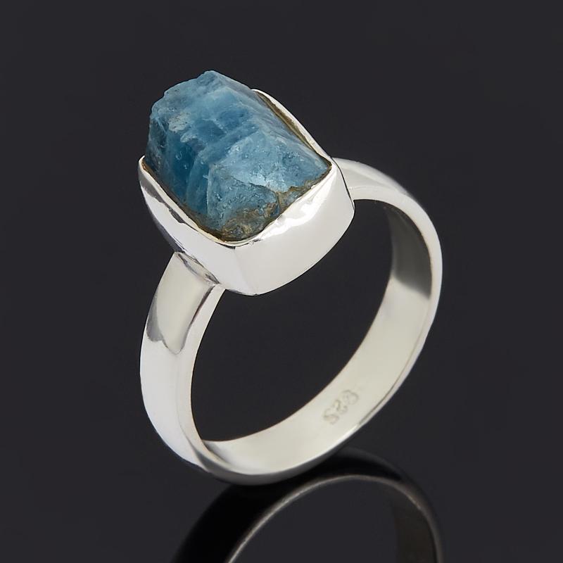 Кольцо турмалин голубой (индиголит)  (серебро 925 пр.) размер 18,5