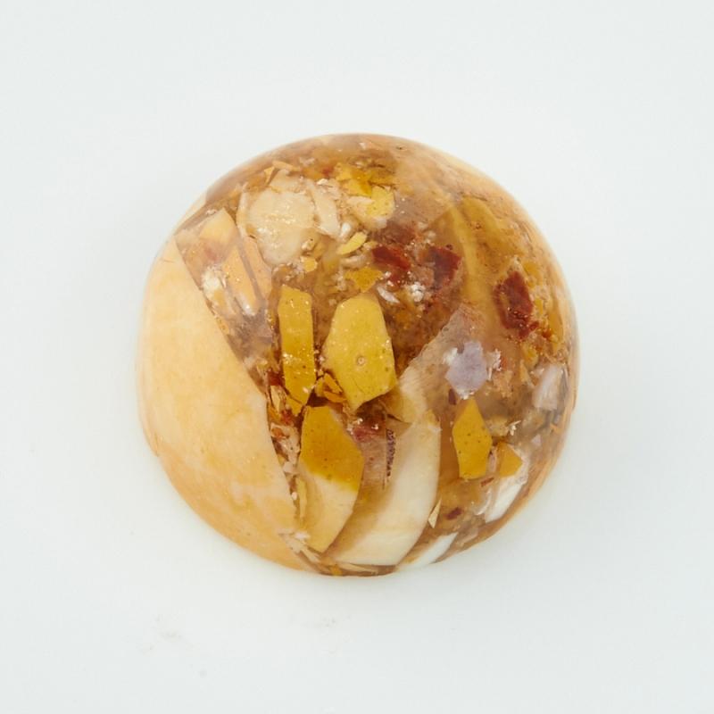Кабошон яшма брекчиевый мукаит  12 мм