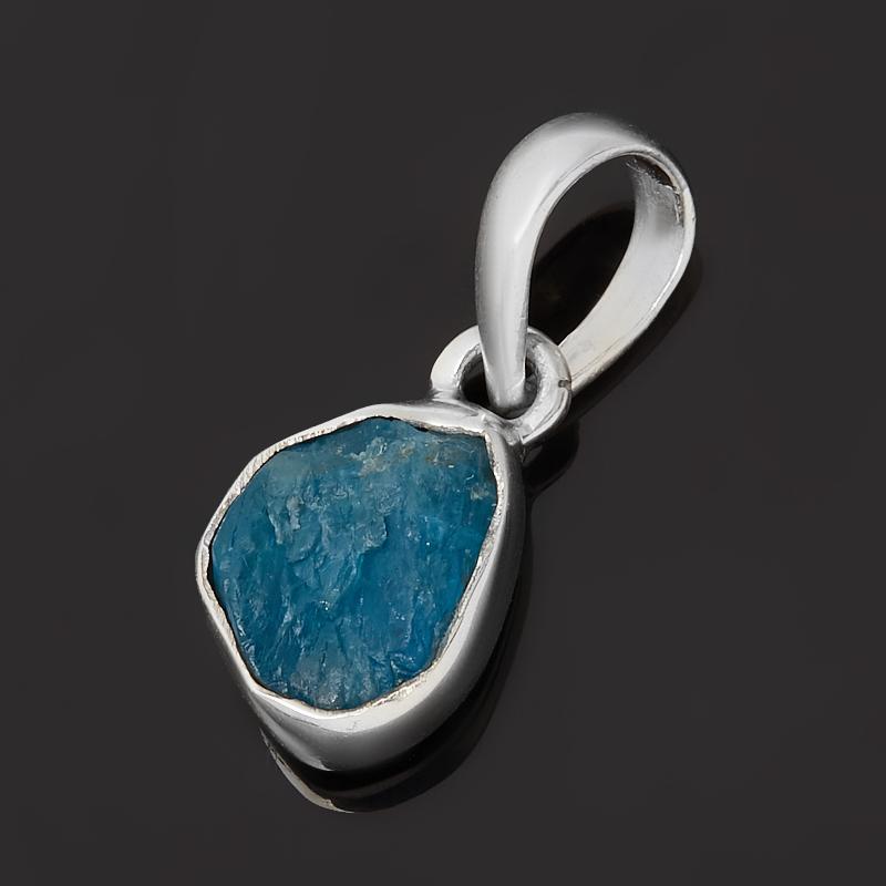 Кулон апатит синий Бразилия (серебро 925 пр.)