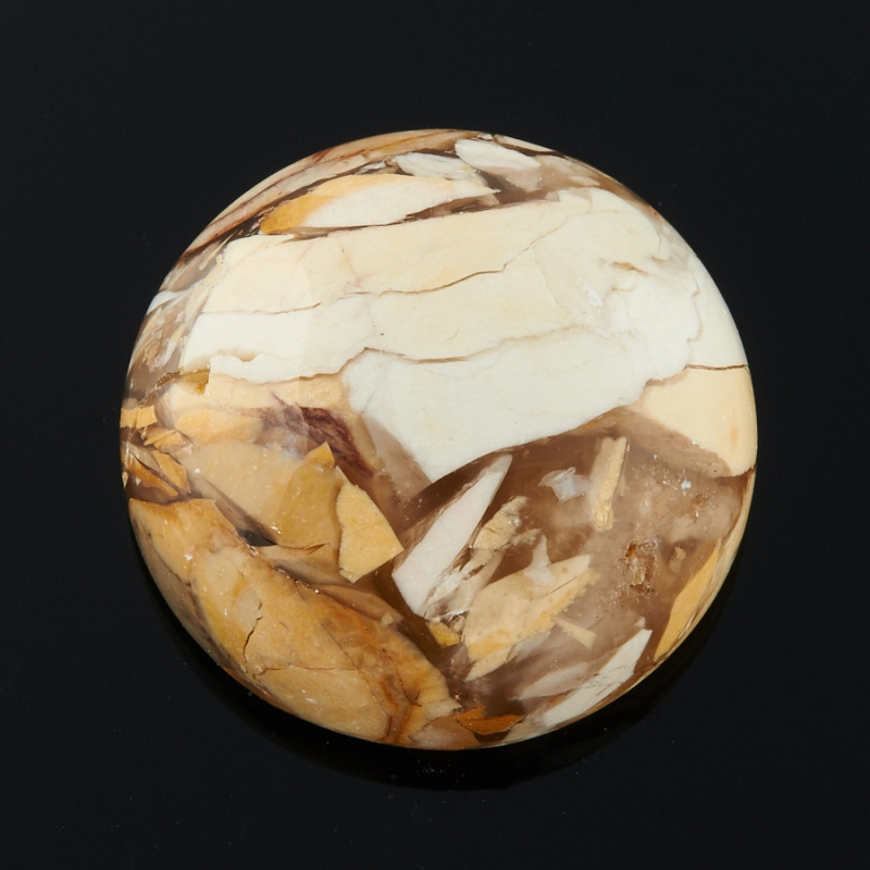 Кабошон яшма брекчиевый мукаит  18 мм
