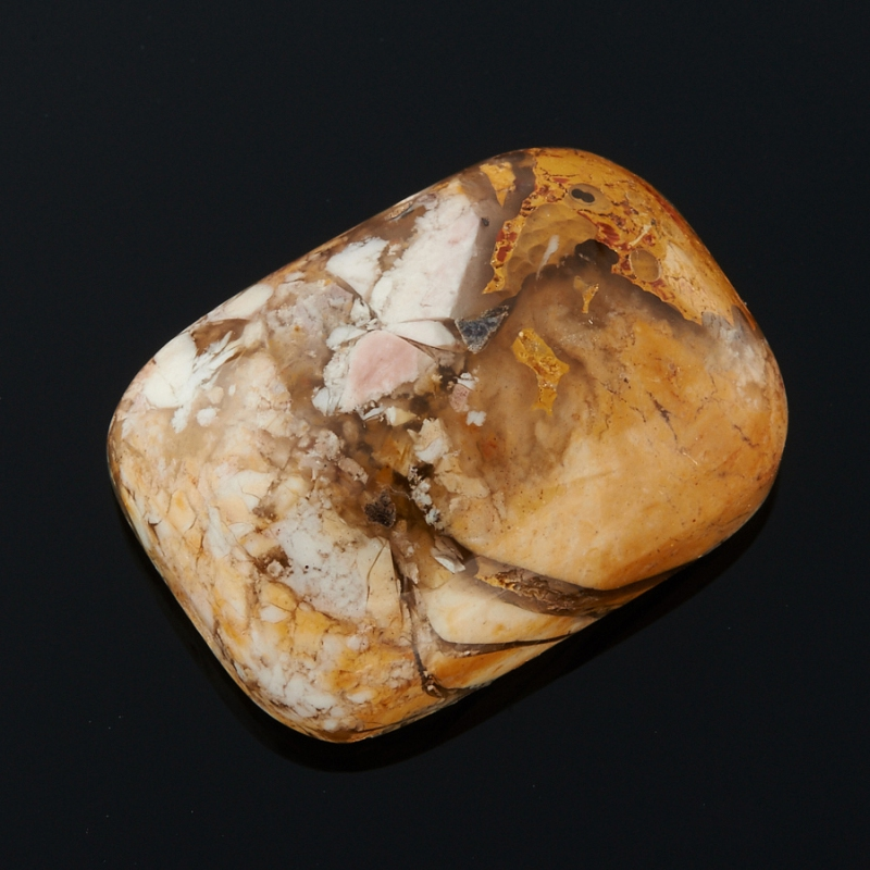 Кабошон яшма брекчиевый мукаит  13*18 мм