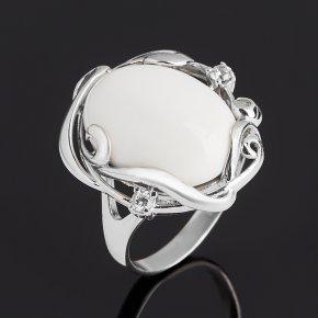 Кольцо кахолонг Казахстан (серебро 925 пр. родир. бел.) размер 18,5