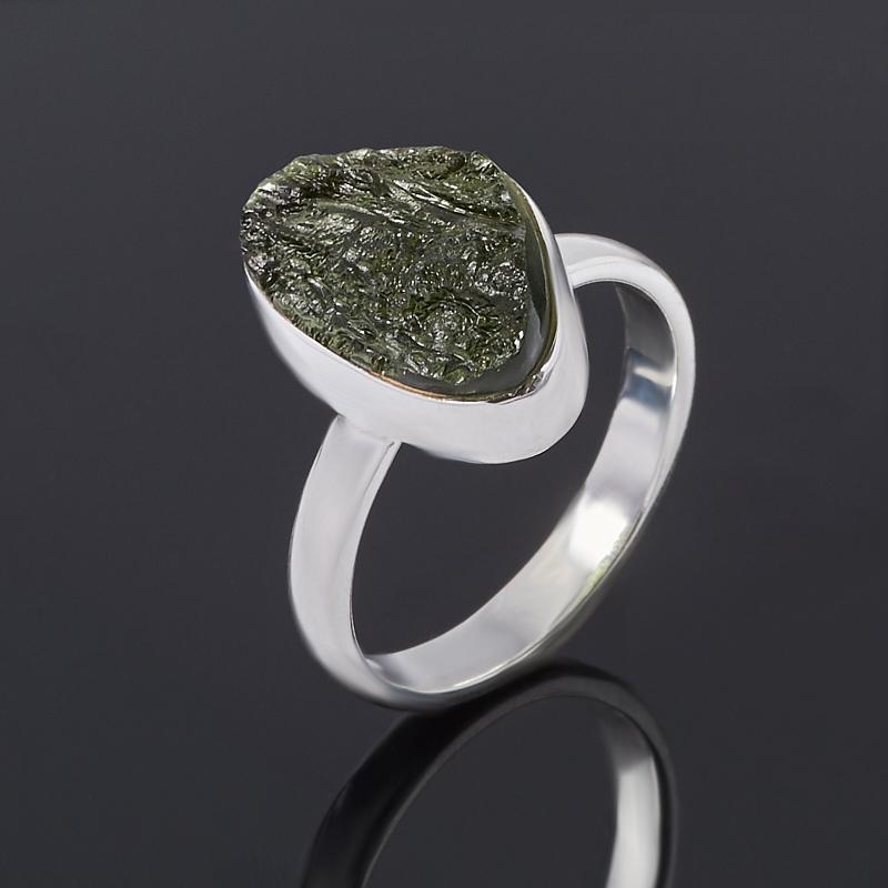 Кольцо молдавит (серебро 925 пр.) размер 17