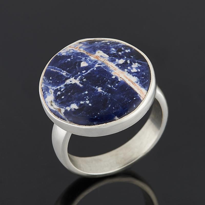 Кольцо содалит Бразилия (серебро 925 пр.) (регулируемый) размер 17,5