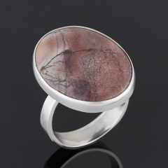 Кольцо яшма мраморная ЮАР (серебро 925 пр.) размер 17,5