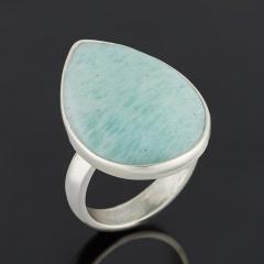 Кольцо амазонит Перу (серебро 925 пр.) (регулируемый) размер 17,5