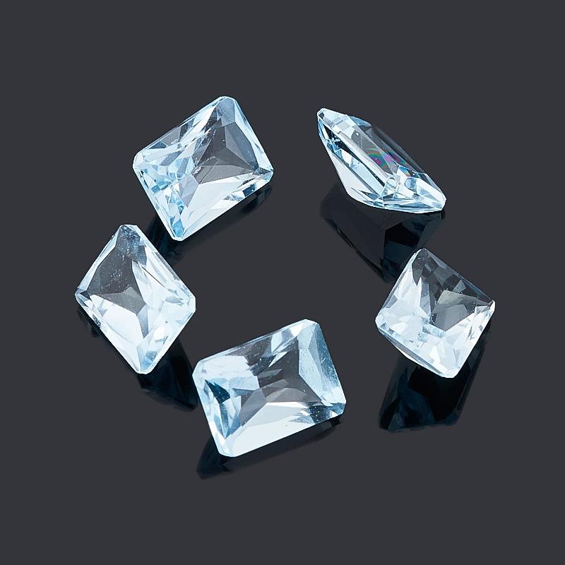 цена на Огранка топаз голубой октагон (1 шт) 5*7 мм