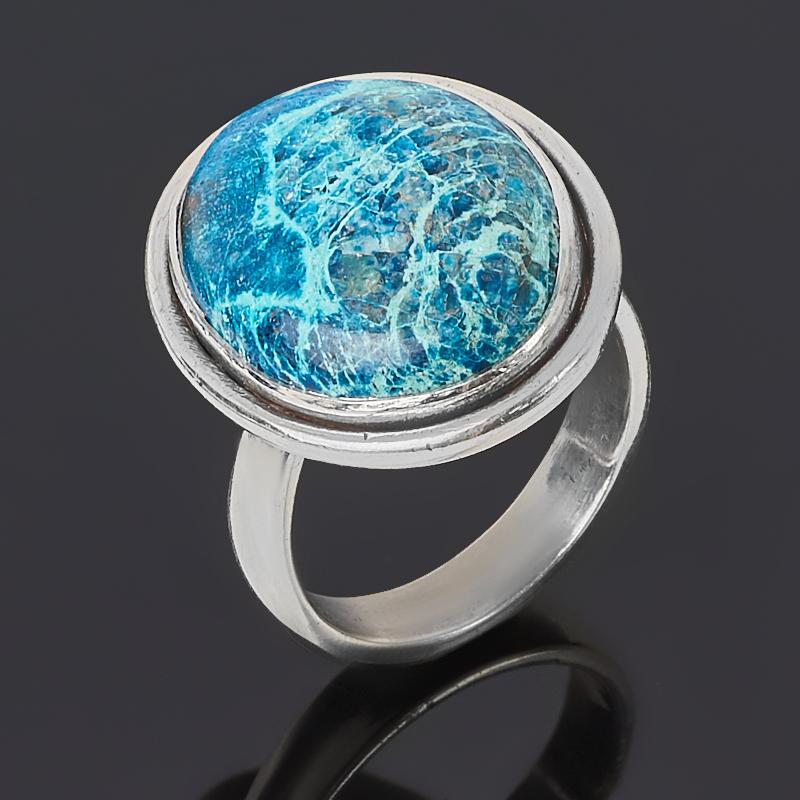 Кольцо хризоколла (серебро 925 пр. оксидир.) (регулируемый) размер 17,5 кольцо хризоколла серебро 925 пр размер 19