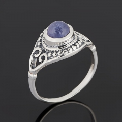 Кольцо танзанит Танзания (серебро 925 пр. оксидир.) размер 17,5