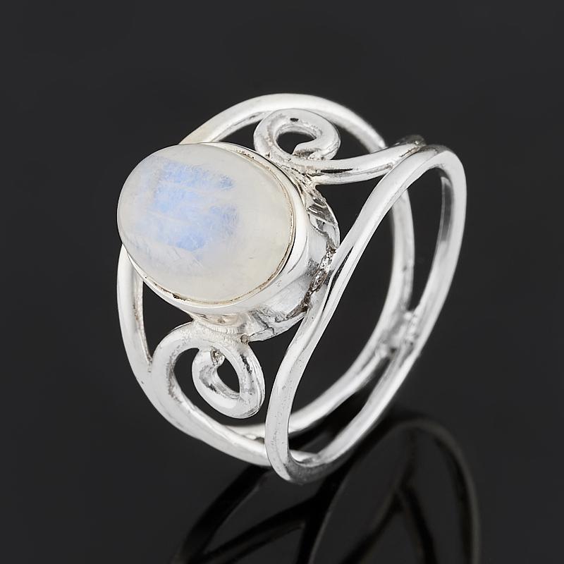 Кольцо лунный камень (адуляр) (серебро 925 пр.) размер 19