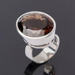 Кольцо раухтопаз Бразилия (серебро 925 пр.) огранка (регулируемый) размер 17,5