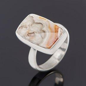 Кольцо агат крейзи Бразилия (серебро 925 пр.) (регулируемый) размер 17,5