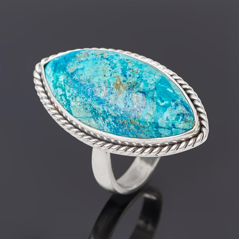 Кольцо хризоколла (серебро 925 пр.) (регулируемый) размер 18 кольцо хризоколла серебро 925 пр размер 19