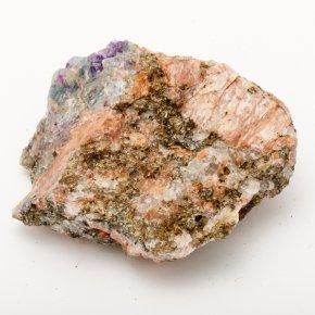 Образец флюорит зеленый, фиолетовый Россия (в породе) S (4-7 см)