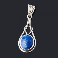 Кулон лазурит Афганистан (серебро 925 пр. оксидир.)