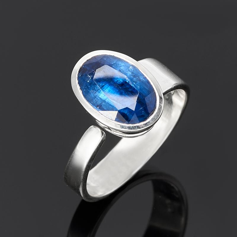 Кольцо кианит синий Бразилия (серебро 925 пр.) огранка (регулируемый) размер 18