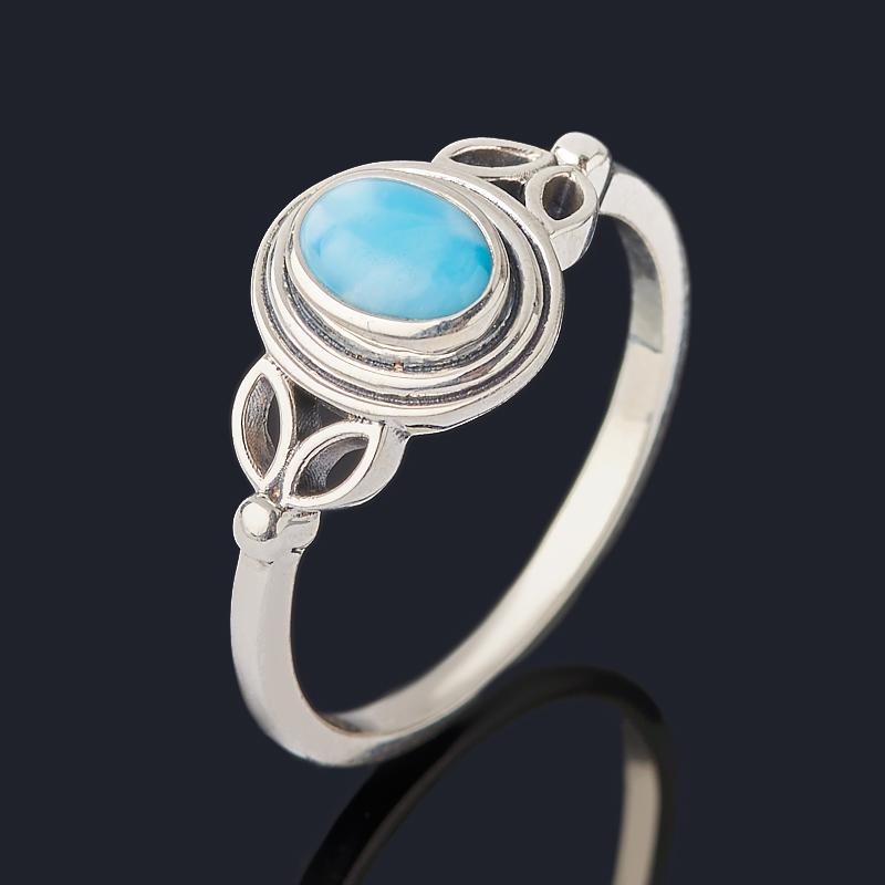 Кольцо ларимар нская Республика (серебро 925 пр. оксидир.) размер 18,5