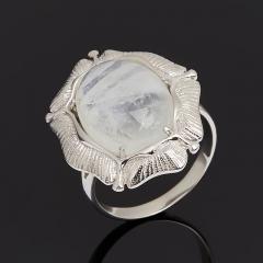 Кольцо лунный камень (адуляр) Индия (серебро 925 пр. родир. бел.) размер 18,5
