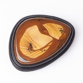 Брошь яшма рисунчатая (песочная) Египет (кожа натуральная)