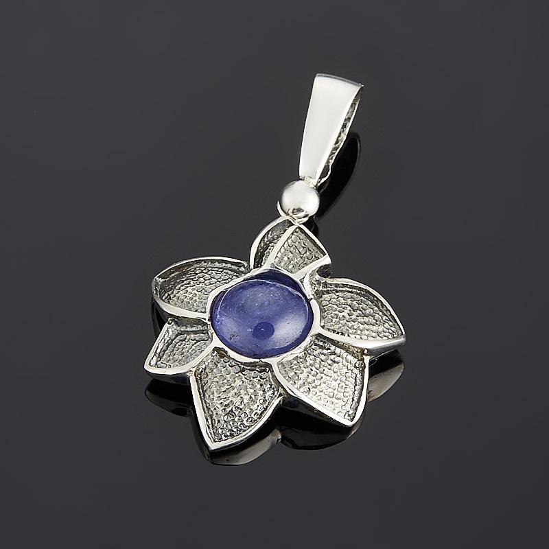 Кулон танзанит (серебро 925 пр. оксидир.) цветок кулон загадочный цветок lotus