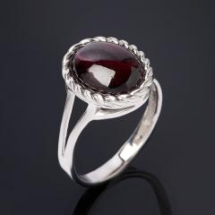 Кольцо гранат родолит Шри Ланка (серебро 925 пр. родир. бел.) размер 17,5