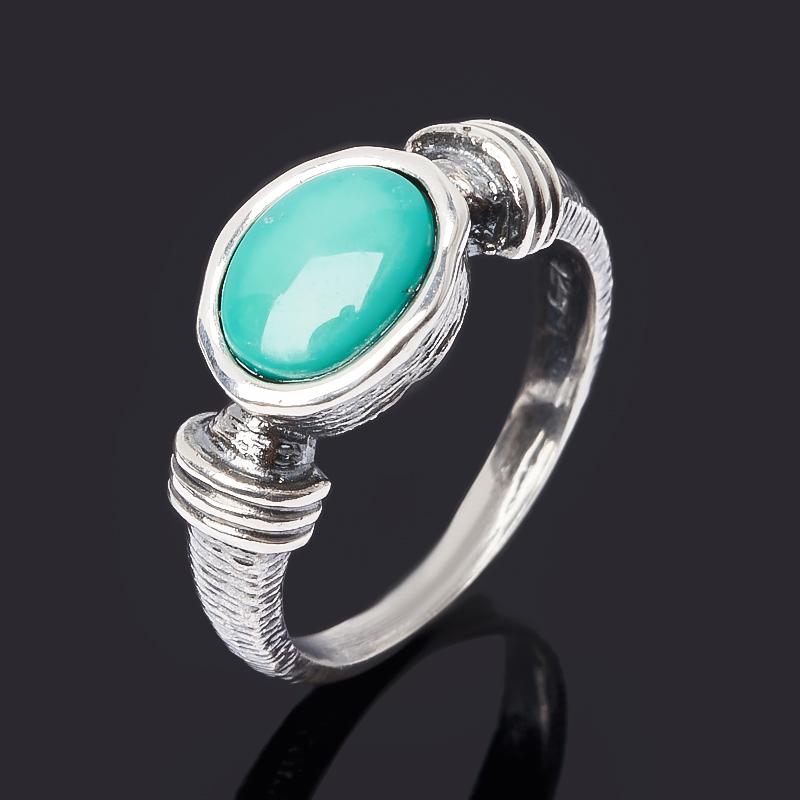 Кольцо бирюза Тибет (серебро 925 пр. оксидир.) размер 19,5