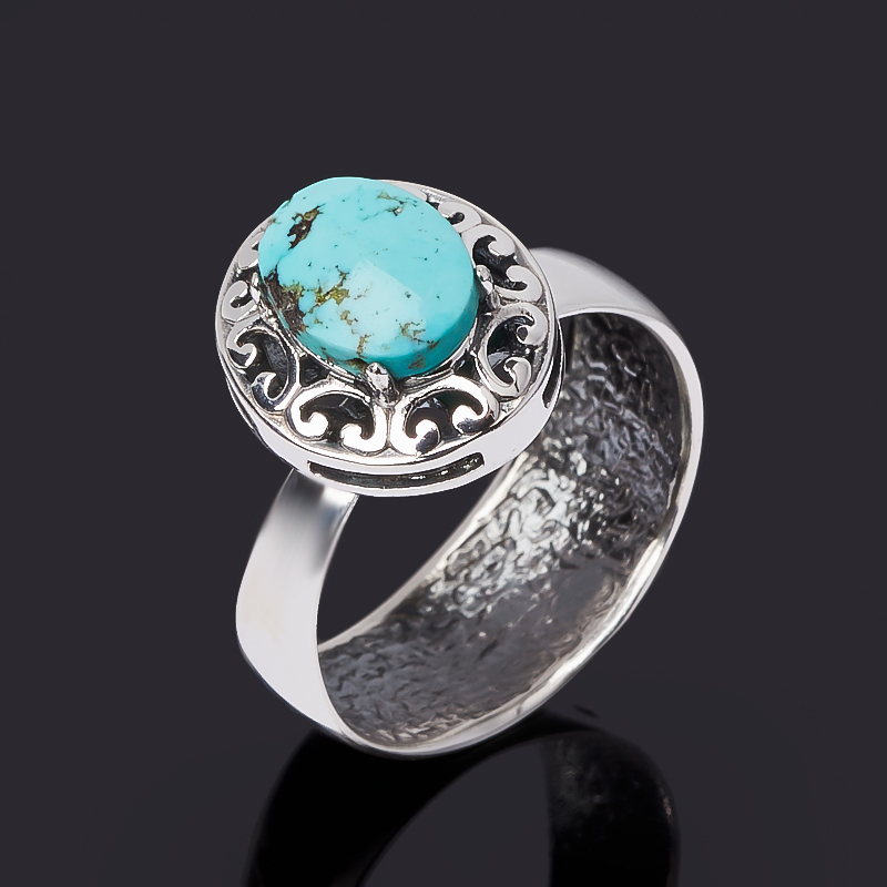 Кольцо бирюза Тибет (серебро 925 пр.) размер 15,5