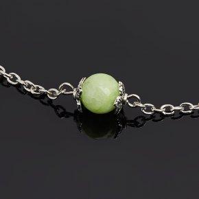 Кулон оникс мраморный зеленый Пакистан (биж. сплав) шар