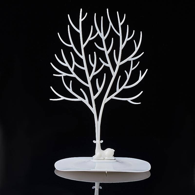 Подставка для украшений (пластик) (белый)