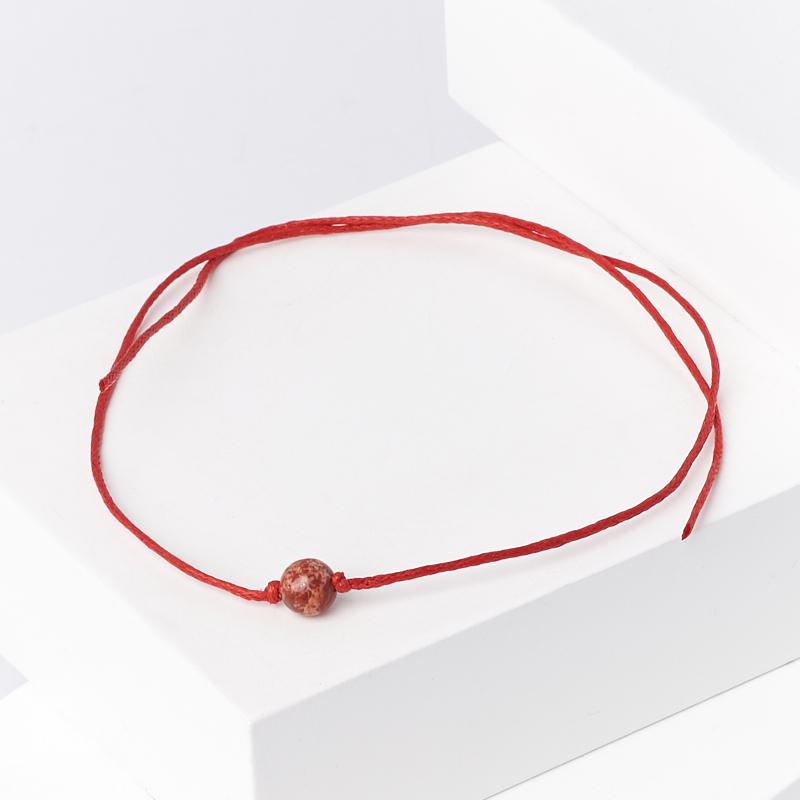 Браслет яшма красная (текстиль) красная нить На семейное благополучие 6 мм (регулируемый) д ведребисели семейное событие
