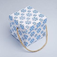 Подарочная упаковка универсальная (коробка) (микс) (картон) 115х115х105 мм