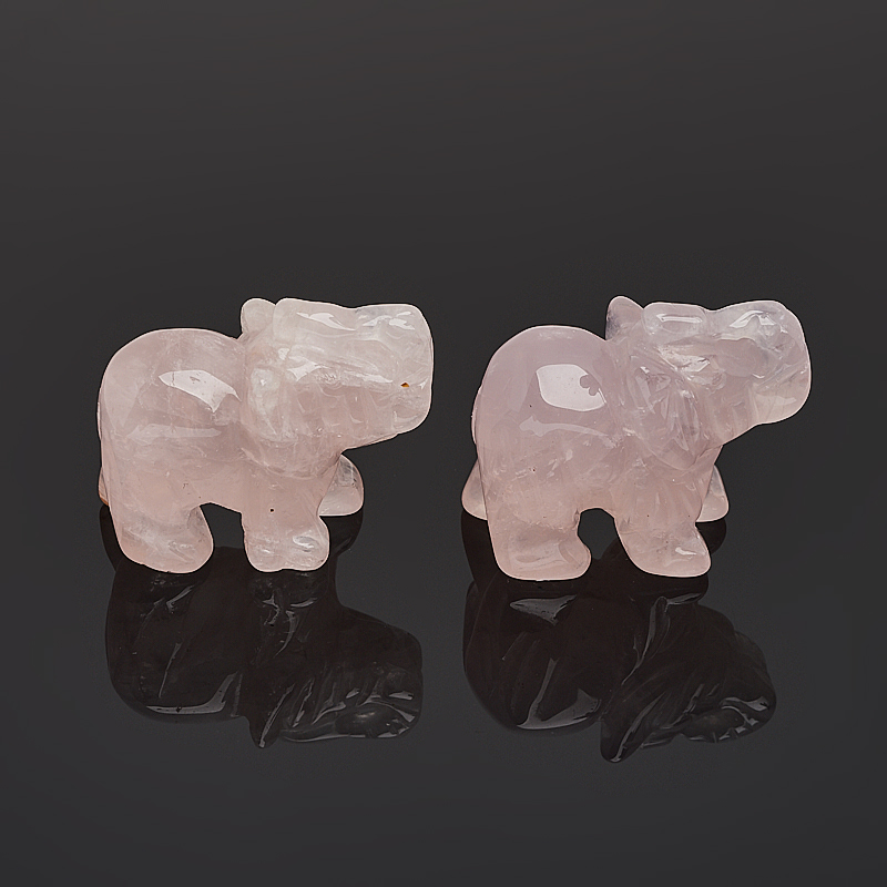 Слон розовый кварц Бразилия 3,5-4 см