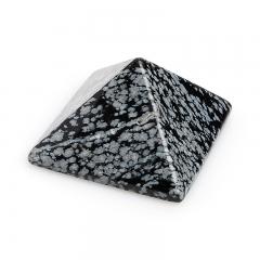 Пирамида обсидиан снежный США 4 см