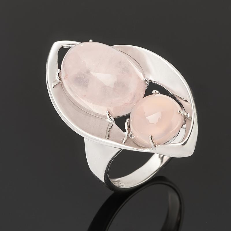 Кольцо розовый кварц (серебро 925 пр. родир. бел.) размер 17 кольцо розовый кварц серебро 925 пр позолота размер 17 5