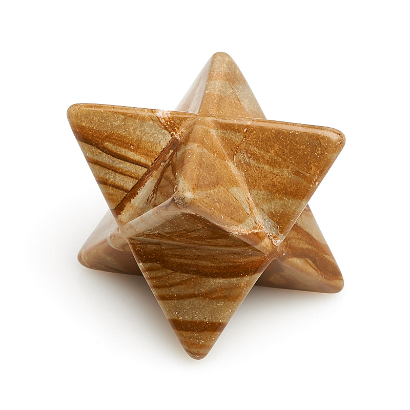 цена на Меркаба яшма рисунчатая (песочная) 4 см