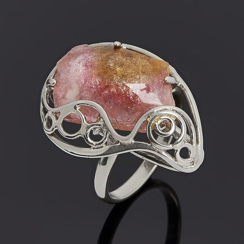 Кольцо турмалин полихромный (нейзильбер) размер 17,5