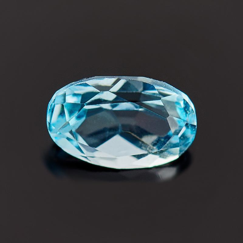 Огранка топаз голубой  4*6 мм