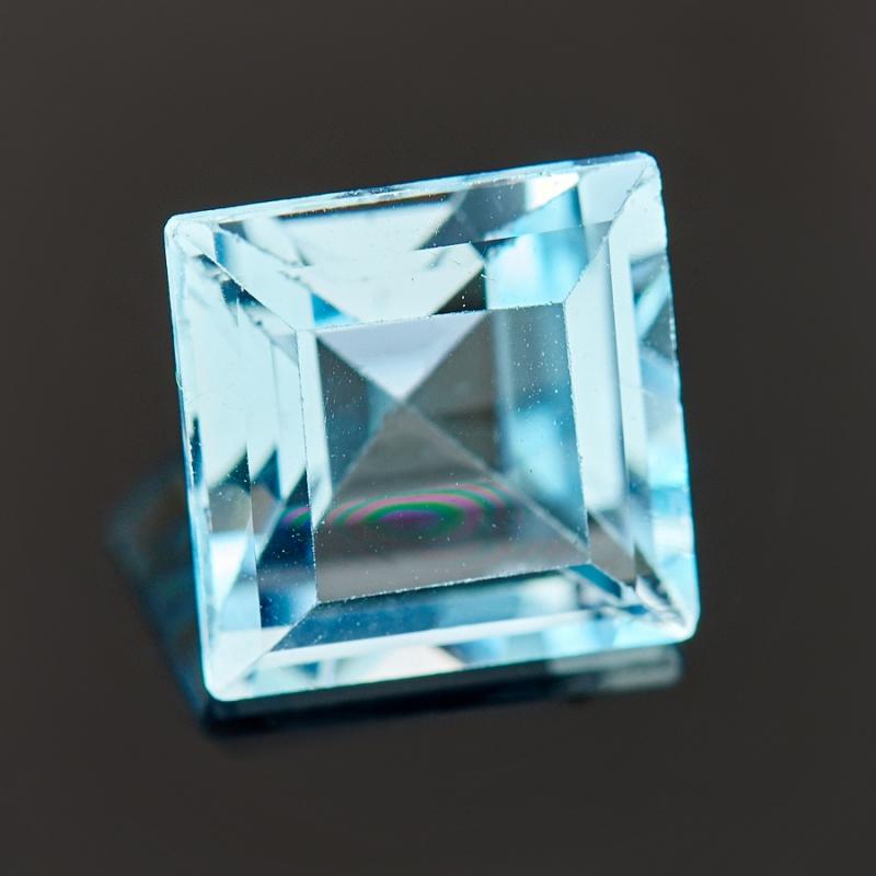 Огранка топаз голубой  7*7 мм